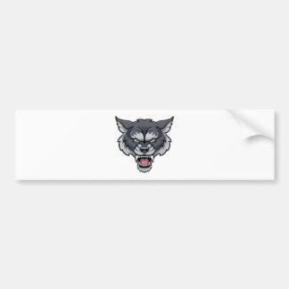 Wolf Sports Mascot Bumper Sticker