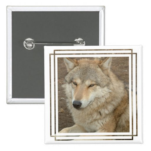 Wolf Square Pin