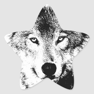 Wolf Star Sticker