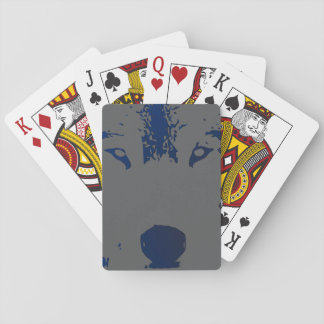 Wolf Stare, Poker Face Playing Cards. Playing Cards