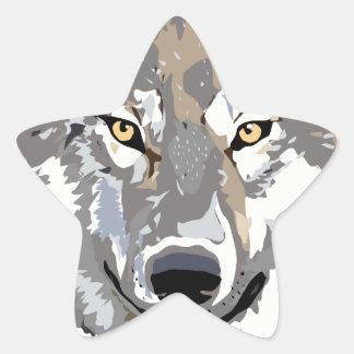 Wolf Star Sticker