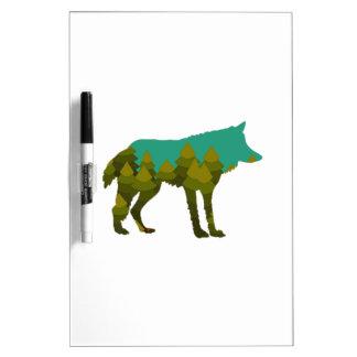 Wolf stroll dry erase board