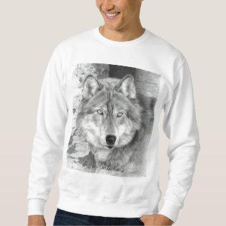 Wolf Sweatshirt, Unisex - for men or women Pullover Sweatshirts