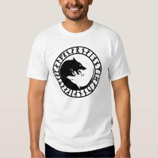 Wolf tattoo design tee shirt
