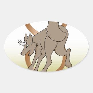 Wolf Taurus Oval Sticker