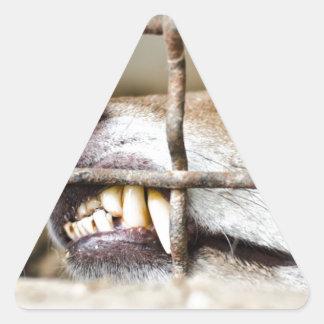 Wolf teeth triangle sticker