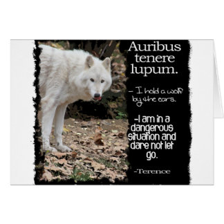 WOLF TERRENCE LATIN QUOTE CARD