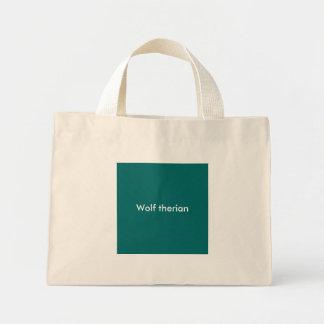 Wolf therian mini tote bag