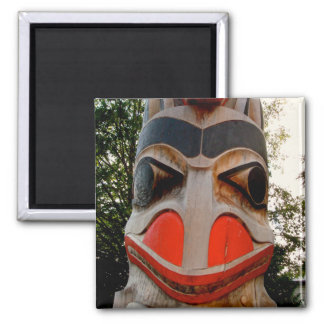 Wolf totem 2 inch square magnet