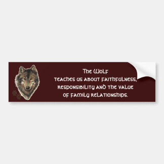 Wolf Totem, Animal Guide Inspirational Bumper Sticker