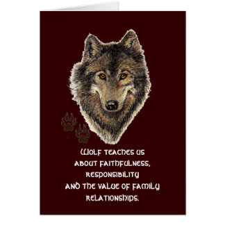 Wolf Totem, Animal Guide Inspirational Card