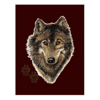 Wolf Totem, Animal Guide Inspirational Postcard