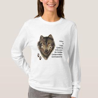 Wolf Totem, Animal Guide Inspirational, Symbol T-Shirt