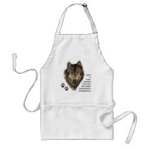 Wolf Totem, Animal Guide Symbol Adult Apron