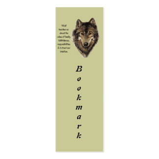 Wolf Totem Animal Guide Watercolor Nature Art Business Cards