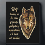 "Wolf Totem Animal Spirit Guide for Inspiration Plaque<br><div class=""desc"">Watercolor Wolf Head Logo Art with Totem Spirit Guide Wisdom or Advice