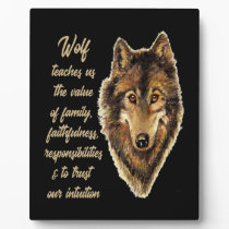 Wolf Totem Animal Spirit Guide for Inspiration Plaque