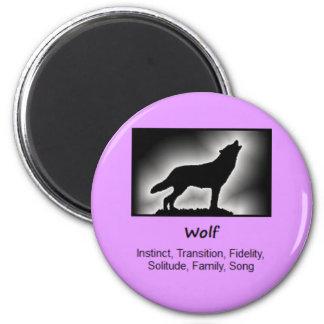 Wolf Totem Animal Spirit Meaning Magnet