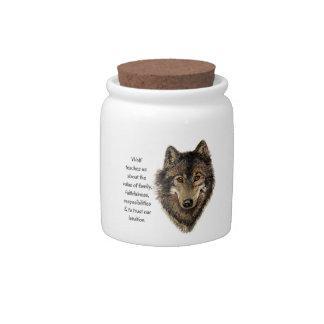 Wolf totem Inspirational Spirit Guide Animal Candy Jars