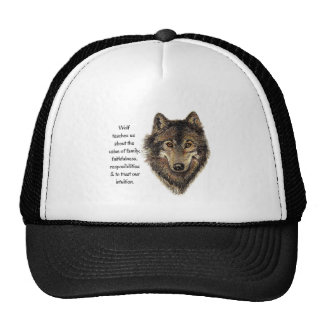 Wolf totem Inspirational Spirit Guide Animal for W Hats