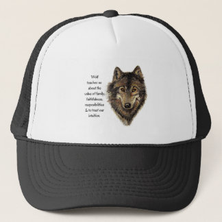 Wolf totem Inspirational Spirit Guide Animal for W Trucker Hat