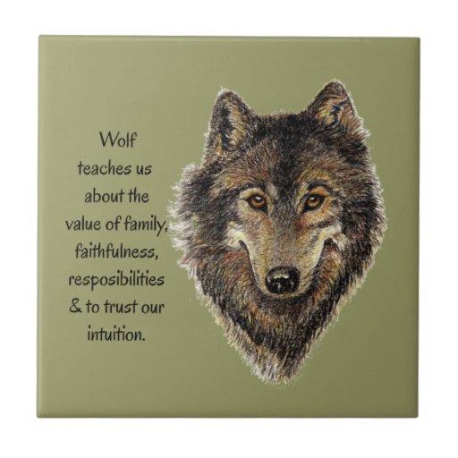 Wolf totem Inspirational Spirit Guide Animal Tiles
