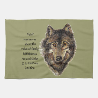Wolf totem Inspirational Spirit Guide Animal Towel