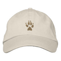 Wolf Track Embroidered Baseball Hat