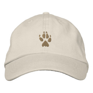 Wolf Track Embroidered Hat
