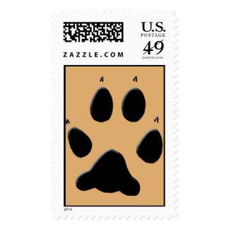 Wolf Track Pawprint Stamp