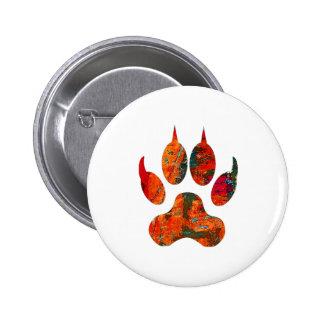 Wolf Track Pinback Button
