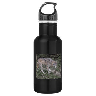 Wolf Tracking 18oz Water Bottle