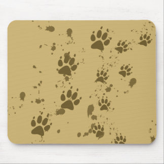 Wolf Tracks Mouse Pad