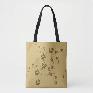 Wolf Tracks Tote Bag