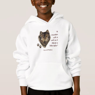 Wolf & Tracks with Quote, Wildlife, Animal Hoodie