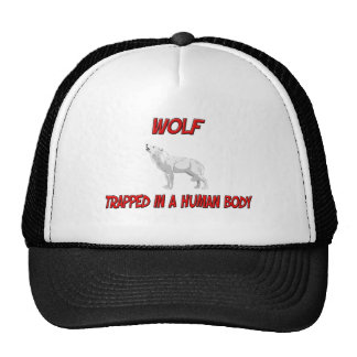 Wolf trapped in a human body trucker hat
