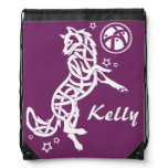 Wolf Tribal Celtic Animal Drawstring Bag