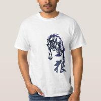 Wolf tribal tattoo t-shirt