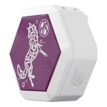 Wolf Tribal White Celtic Animal White Bluetooth Speaker