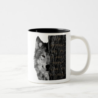 Wolf vs Sheep Two-Tone Coffee Mug