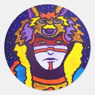 Wolf Walking by Piliero Classic Round Sticker