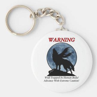 Wolf Warning Keychain