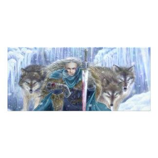 Wolf Warrior Fantasy Art Rack Card