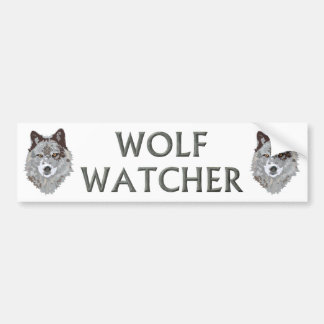 wolf watcher bumper sticker