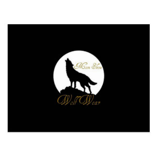 Wolf Wear. casual wear and items Postcard