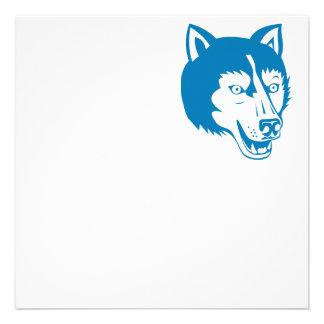 Wolf Wild Dog Head Retro Personalized Announcement