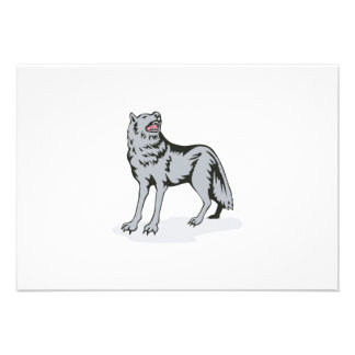 Wolf Wild Dog Howling Custom Invitations