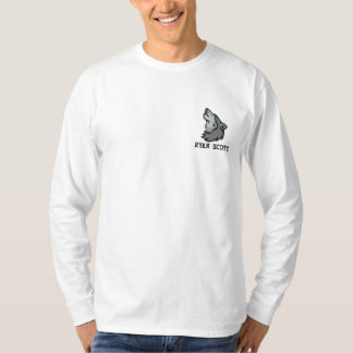 Wolf Wild Life Personalized Embroidered Long Sleeve T-Shirt