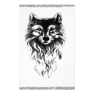 Wolf wild stationery
