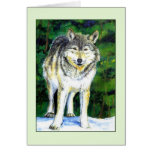Wolf Wilderness Greeting Card